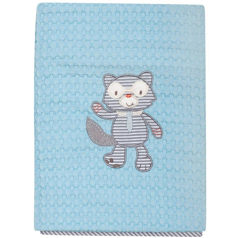 Βρεφική Κουβέρτα κούνιας Πικε 110x150cm Das home  baby Dream Embroidery 6462