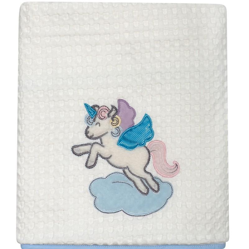 Βρεφική Κουβέρτα κούνιας Πικε 110x150cm Das home  baby Dream Embroidery 6463