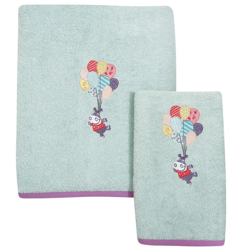 Σετ Βρεφικές Πετσέτες Κεντητές 2 τεμαχίων Das Home Baby Dream 6457