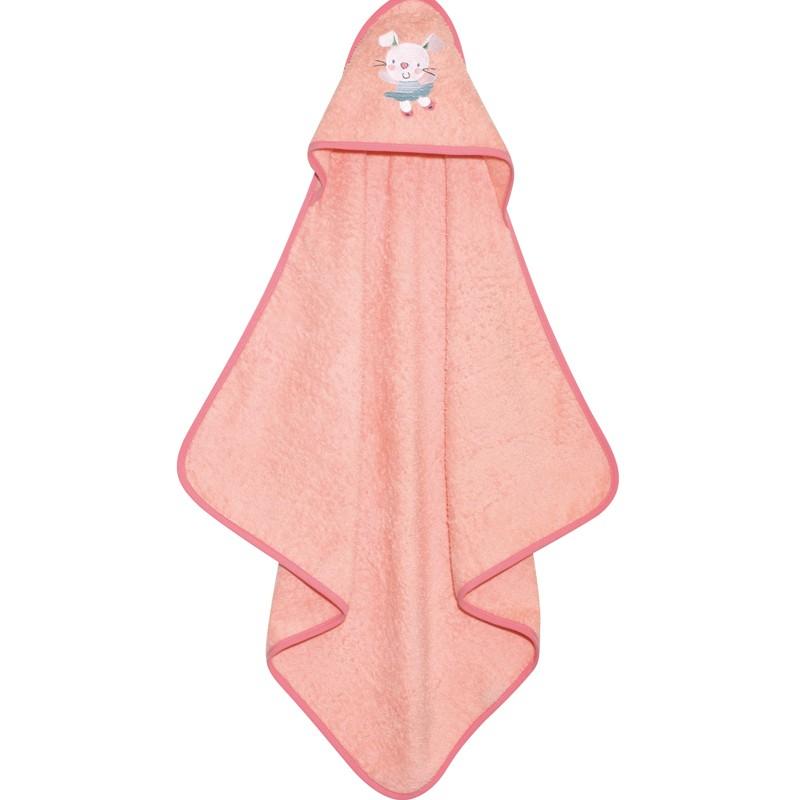 Βρεφικό Κάπα Μπουρνουζάκι Das Home Baby Smile Embroidery 6458