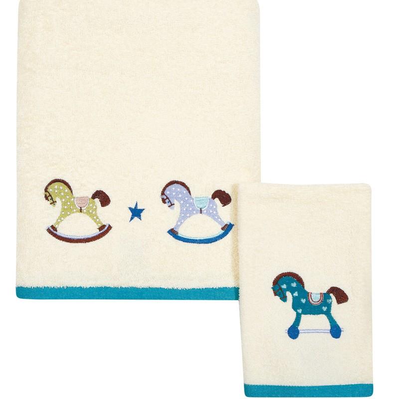Σετ Βρεφικές Πετσέτες Κεντητές 2 τεμαχίων Das Home Baby Dream 6455