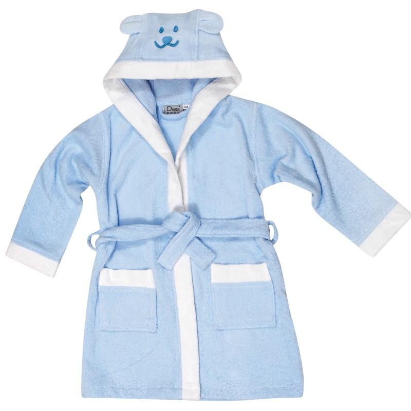Βρεφικό Μπουρνουζακι με μανίκι Νο5-6  Das home Baby Smile Embroidery 6473