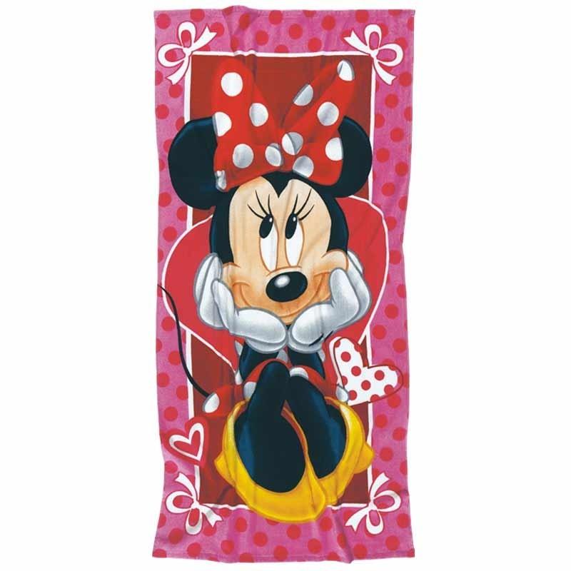 Πετσέτα Θαλάσσης Παιδική Das Home Minnie Code 5815 ΚΟΚΚΙΝΟ-ΡΟΖ