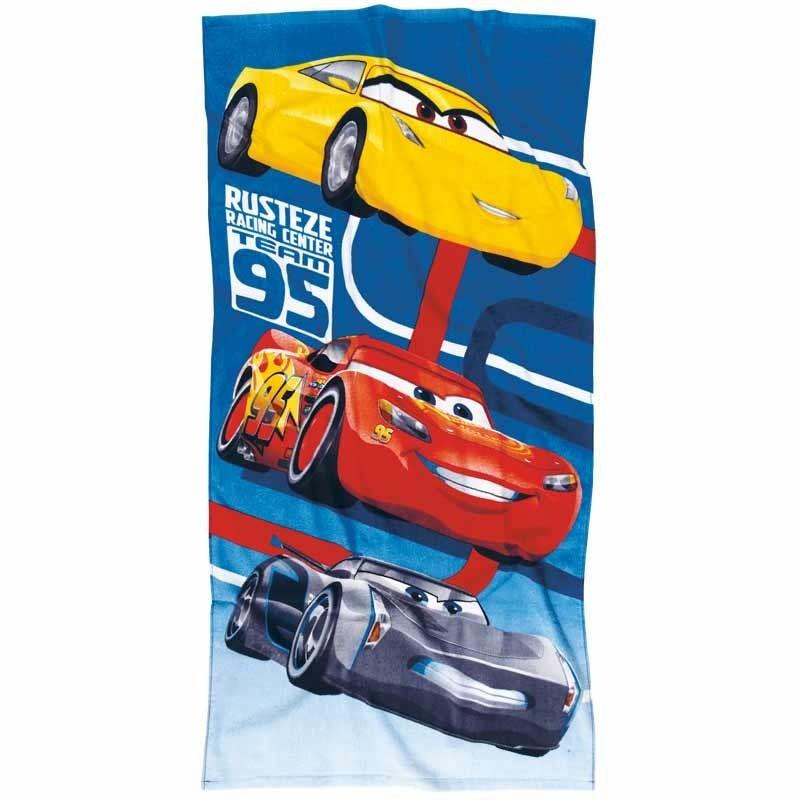 Πετσέτα Θαλάσσης Παιδική Das Home Cars Code 5819 ΜΠΛΕ-ΚΟΚΚΙΝΟ