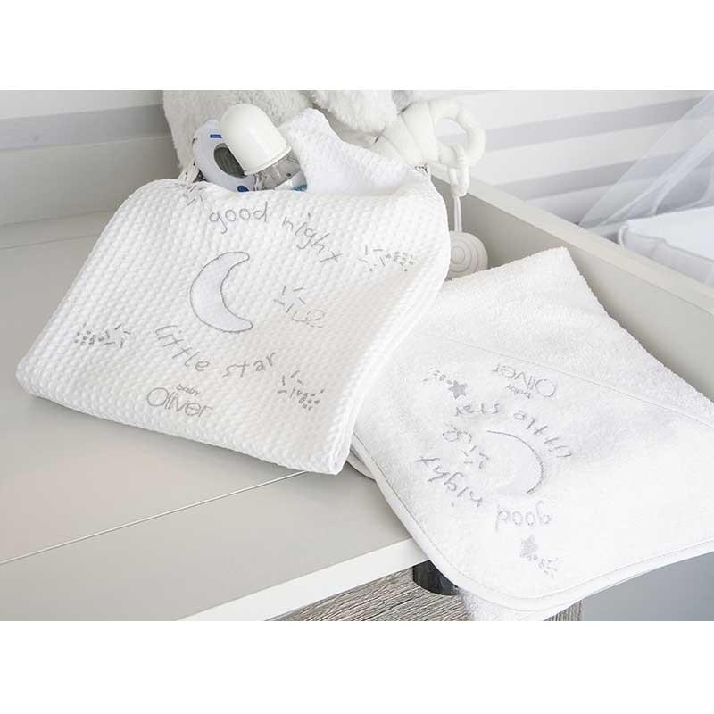 Κάλυμμα Αλλαξιέρας για μωρά με σελτεδάκι Baby Oliver Silver Moon Design 609