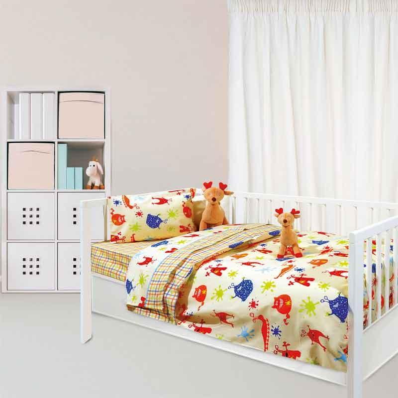 Σετ Παπλωματοθήκη για μωρά Das Home Fun Line Prints 6362