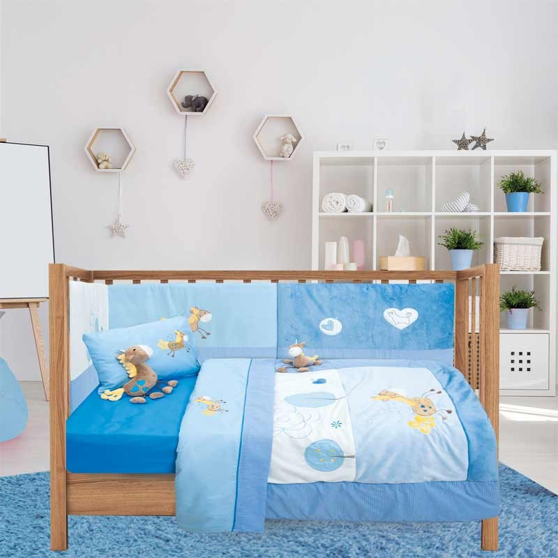 Σετ Κουβερλί Βρεφικό Κούνιας Das Home Dream Line Embroidery 6335