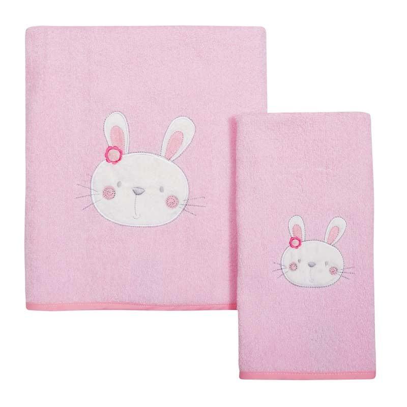 Σετ πετσέτες βρεφικές 2τμχ Das Home Smile Line Embroidery 6387