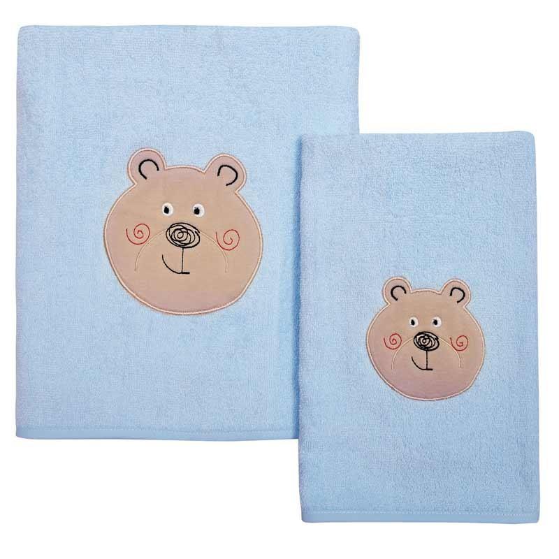 Σετ πετσέτες βρεφικές 2τμχ Das Home Smile Line Embroidery 6388