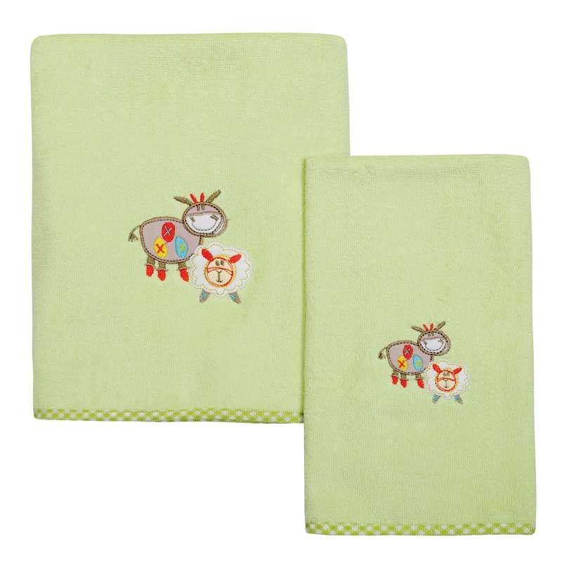 Σετ πετσέτες βρεφικές 2τμχ Das Home Smile Line Embroidery 6389