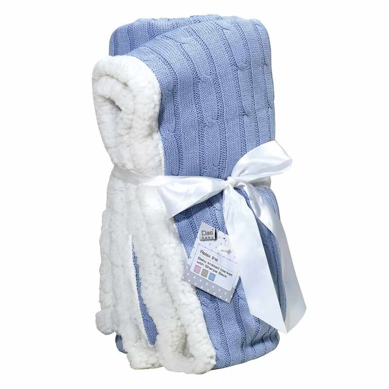 Βρεφική Κουβέρτα αγκαλιάς πλεκτή Das Home Code 6412
