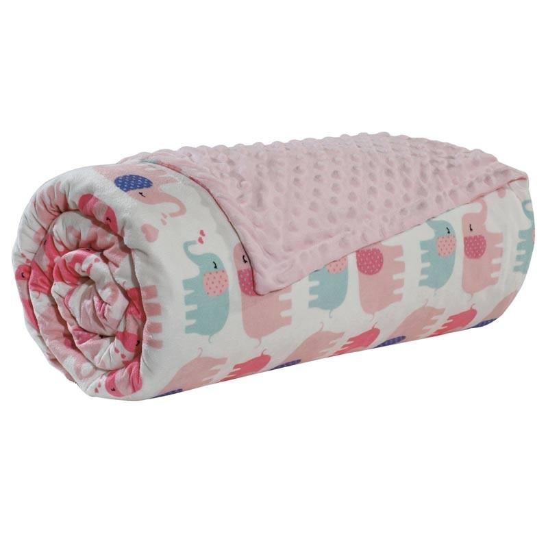 Βρεφική Κουβέρτα Αγκαλιάς Bubble Fleece Das Home Code 6487
