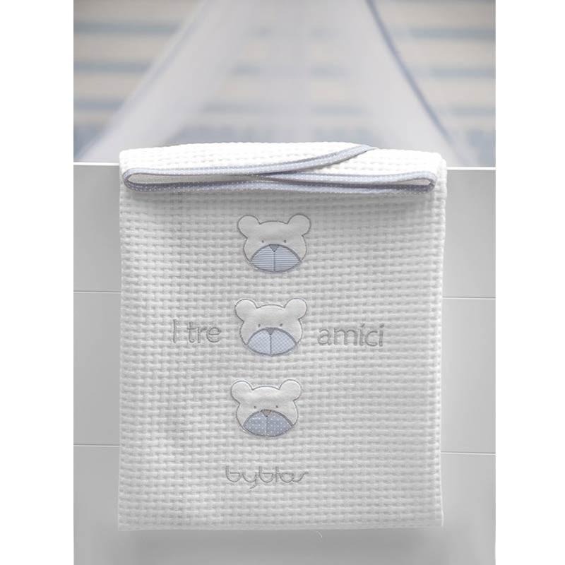 Βρεφική Κουβέρτα Αγκαλιάς Πικέ Byblos Design 80 Amici Blue