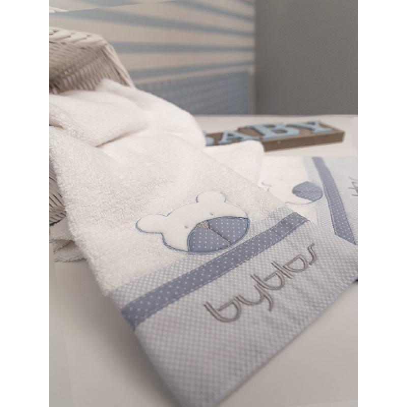 Σετ πετσέτες βρεφικές 2τμχ Byblos Design 80 Amici Blue