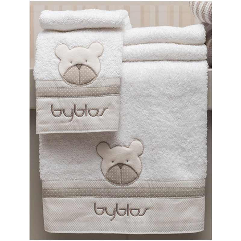 Σετ πετσέτες βρεφικές 2τμχ Byblos Design 81 Amici Beige