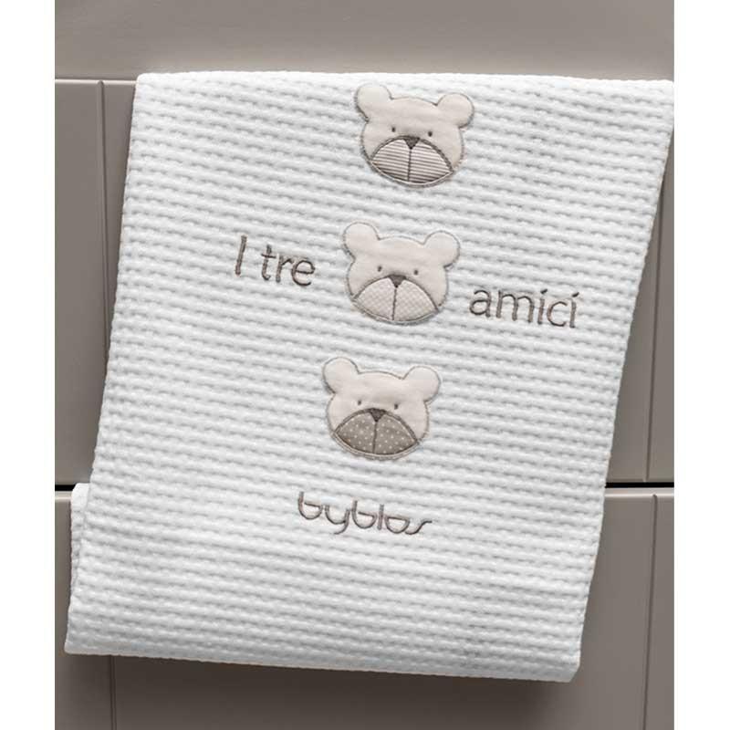 Βρεφική Κουβέρτα Αγκαλιάς Πικέ Byblos Design 81 Amici Beige