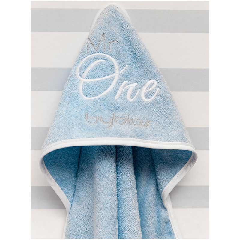 Βρεφική Κάπα Μπουρνουζάκι Byblos Design 82 Mr One Blue