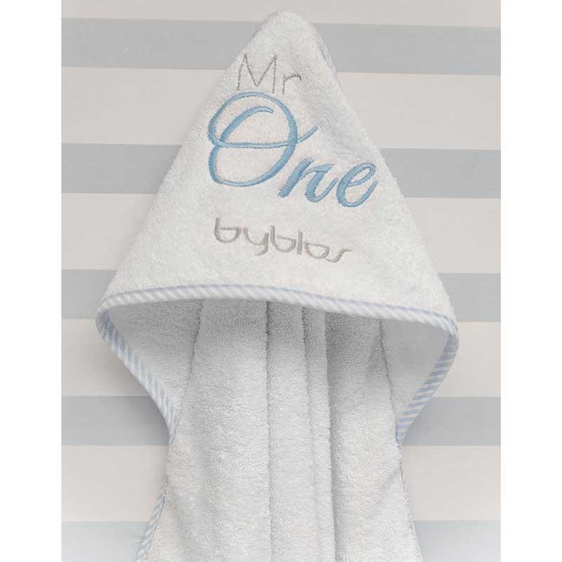Βρεφική Κάπα Μπουρνουζάκι Byblos Design 82 Mr One Blue (White)
