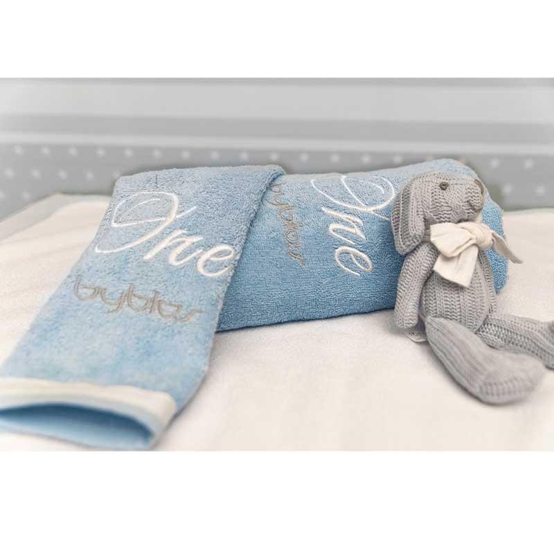 Σετ πετσέτες βρεφικές 2τμχ Byblos Design 82 Mr One Blue