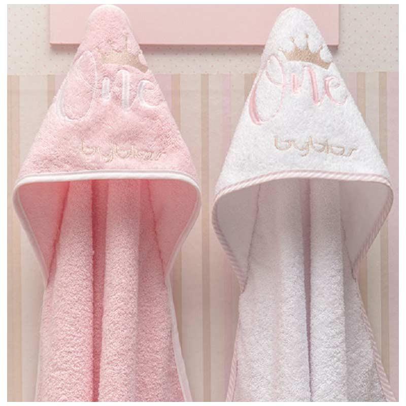 Βρεφική Κάπα Μπουρνουζάκι Byblos Design 83 One Pink (White)