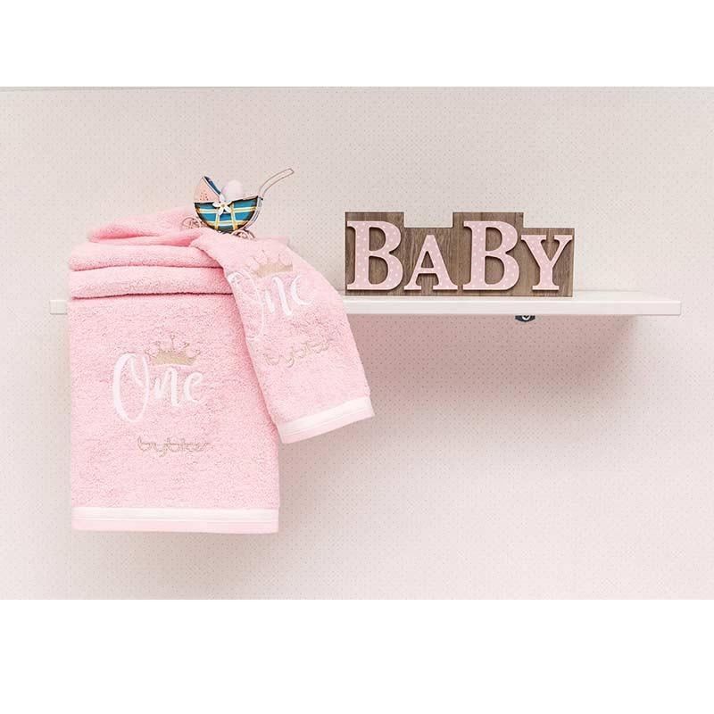 Σετ πετσέτες βρεφικές 2τμχ Byblos Design 83 One Pink