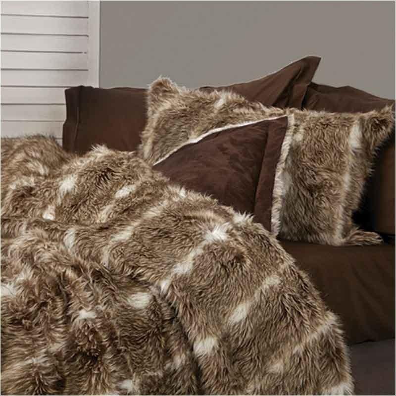 Σετ Κουβέρτα Γούνινη Οικολογική Υπέρδιπλη Palamaiki Ducale Fur 8504