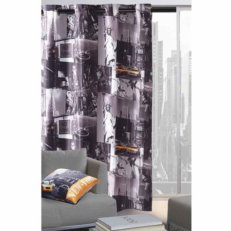 Κουρτίνα και Μαξιλάρι Διακοσμητικό Das Home Curtain Line Photo Prints 9218