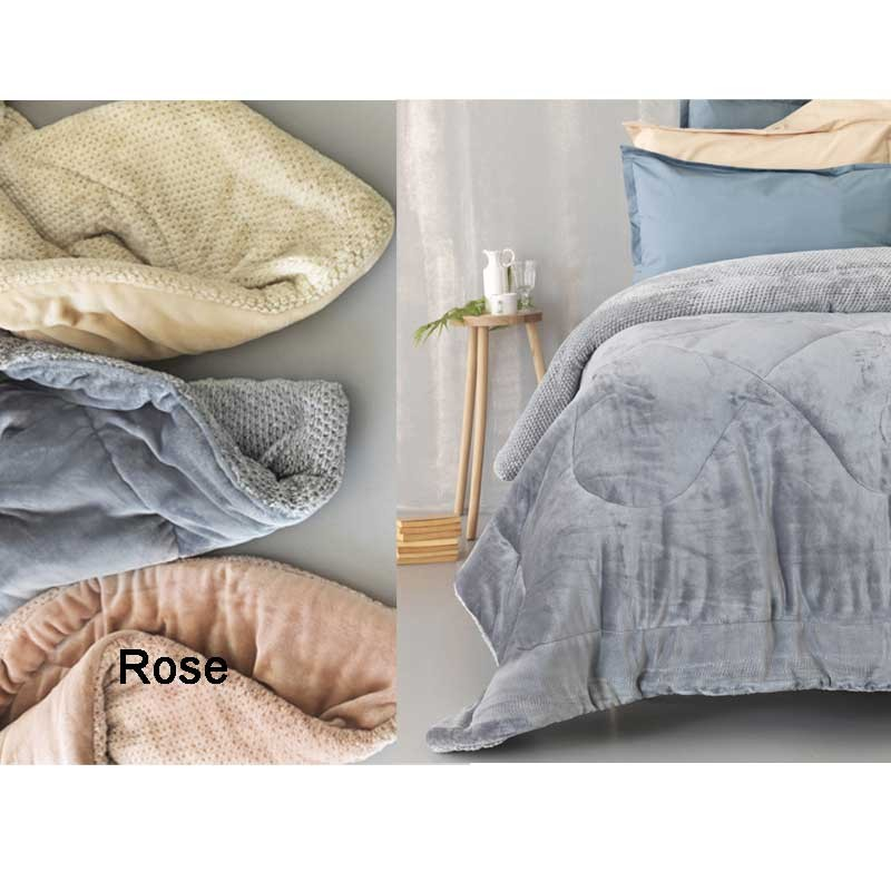 Κουβερτοπάπλωμα Ημίδιπλο Palamaiki Flannel Fleece Collection Malena Rose