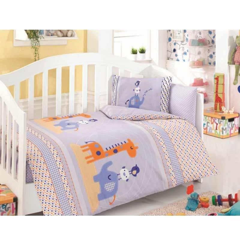 Σετ σεντόνια κούνιας βρεφικά Palamaiki Happy Baby Collection HB0521
