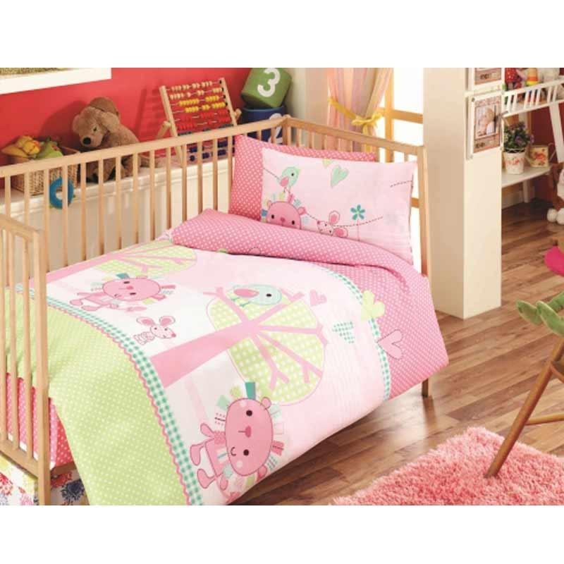 Σετ σεντόνια κούνιας βρεφικά Palamaiki Happy Baby Collection HB0524