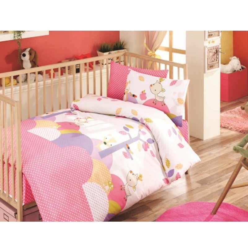 Σετ σεντόνια κούνιας βρεφικά Palamaiki Happy Baby Collection HB0525