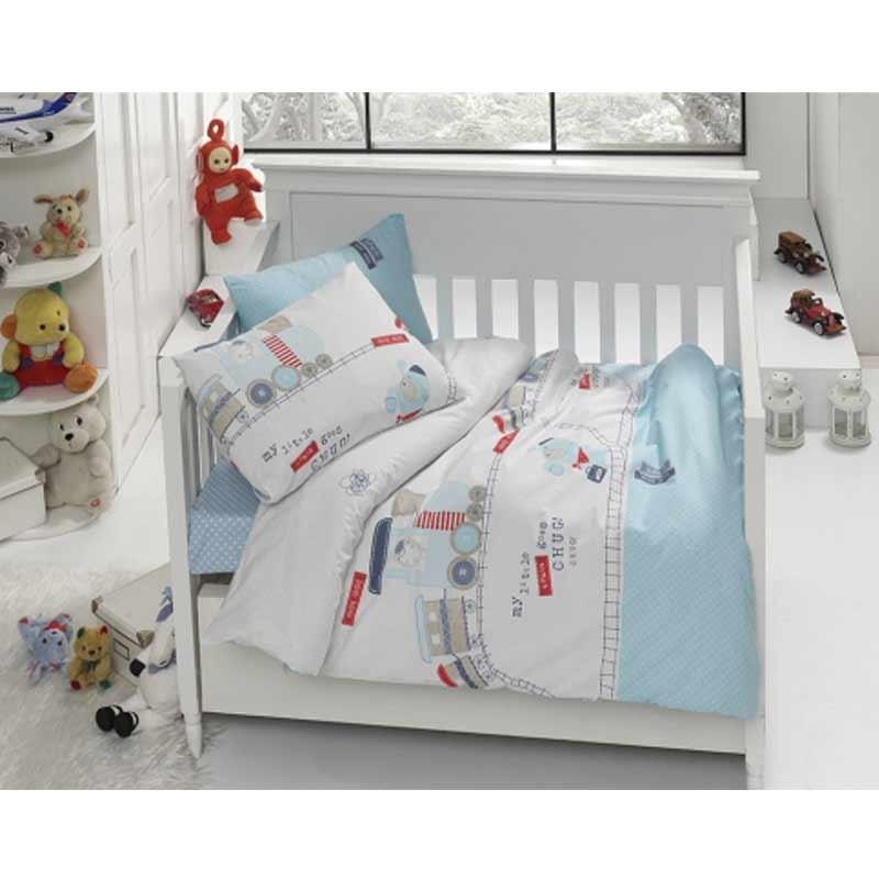 Σετ σεντόνια κούνιας βρεφικά Palamaiki Happy Baby Collection HB0526
