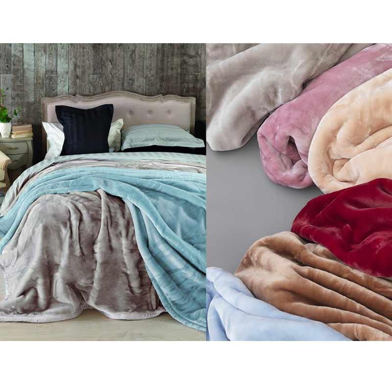 Κουβέρτα Velour Ημίδιπλη Palamaiki Dream Velour Red
