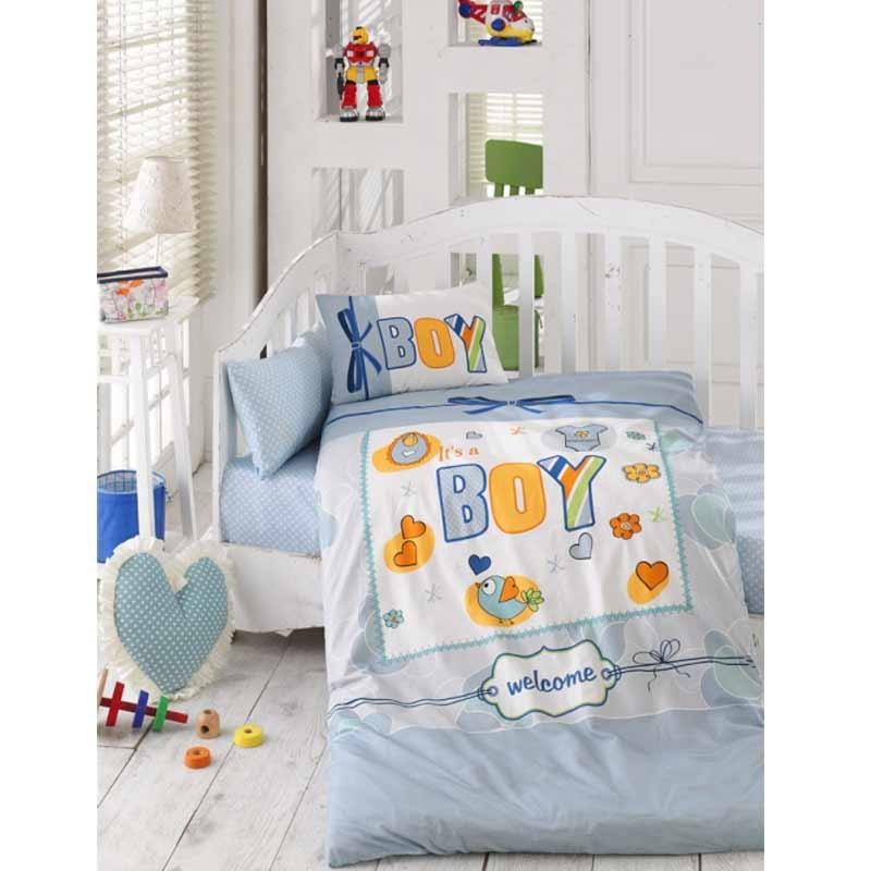 Σετ σεντόνια κούνιας βρεφικά Palamaiki Happy Baby Collection HB0520