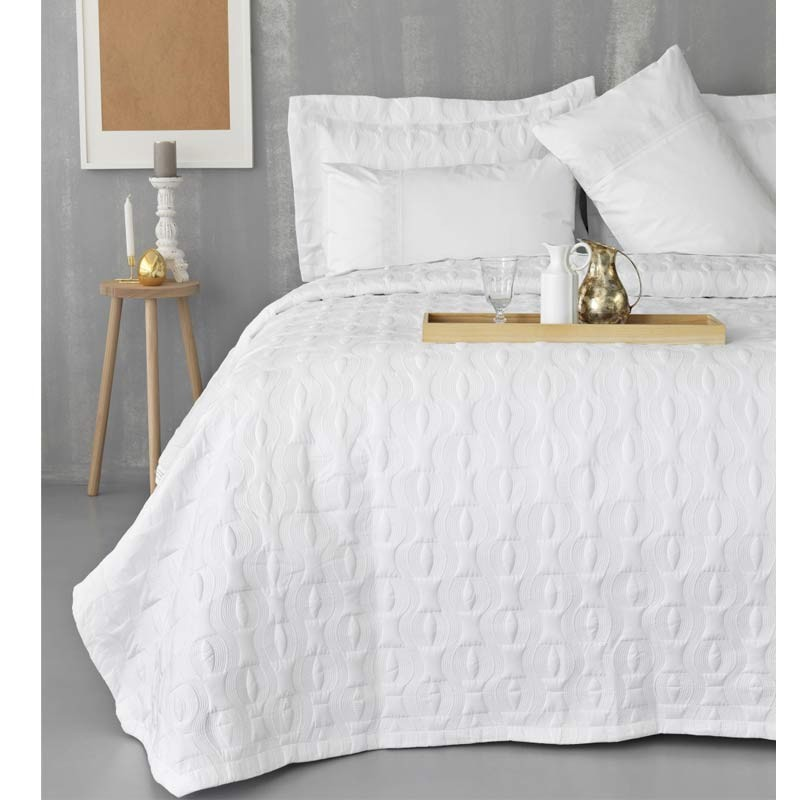 Νυφικό Σετ 7τμχ Κουβερλι και Σεντόνια Palamaiki Wedding Collection WEL007 White