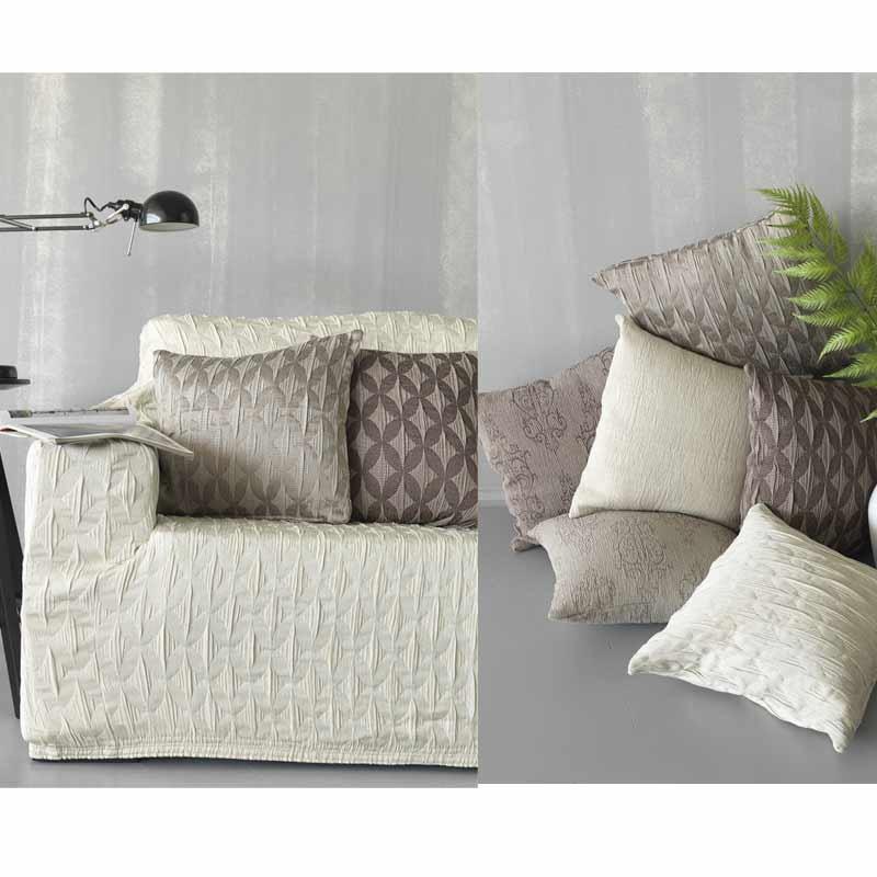 Κάλυμμα Ελαστικό Τριθέσιο Palamaiki Throws Flexi Collection FT1511 Grey