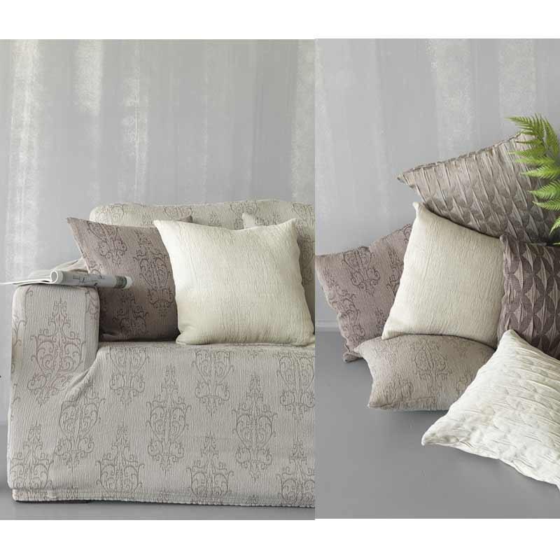 Κάλυμμα Ελαστικό Τριθέσιο Palamaiki Throws Flexi Collection FT1512 Grey