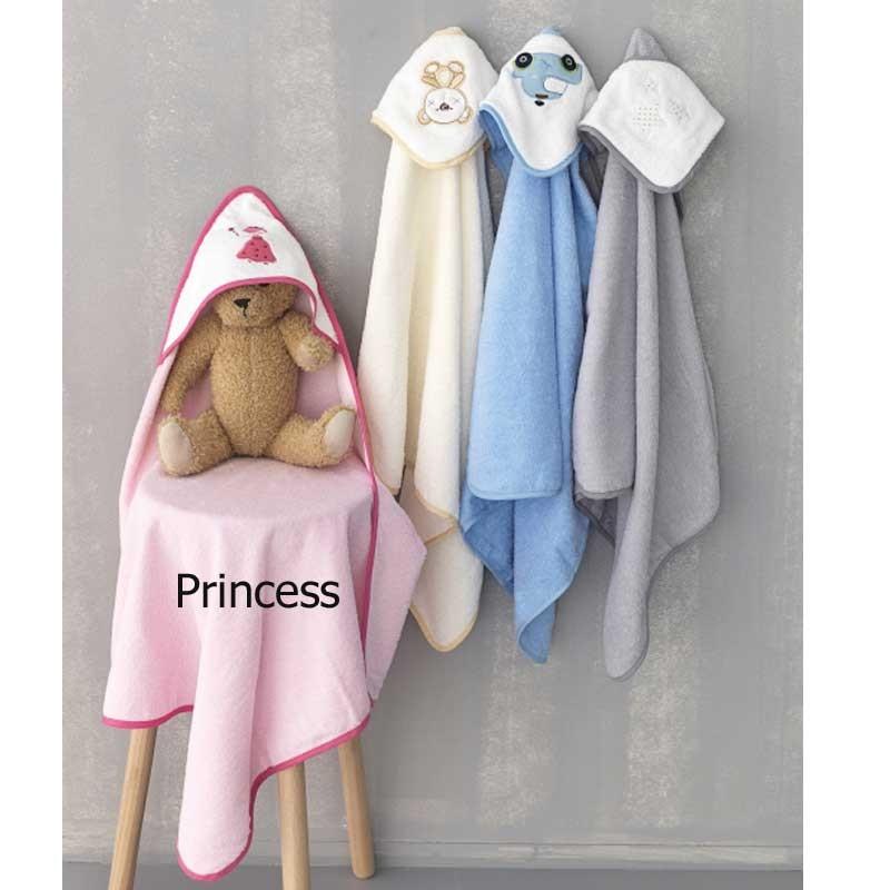Βρεφική Κάπα Μπουρνουζάκι Palamaiki New Baby Collection Princess