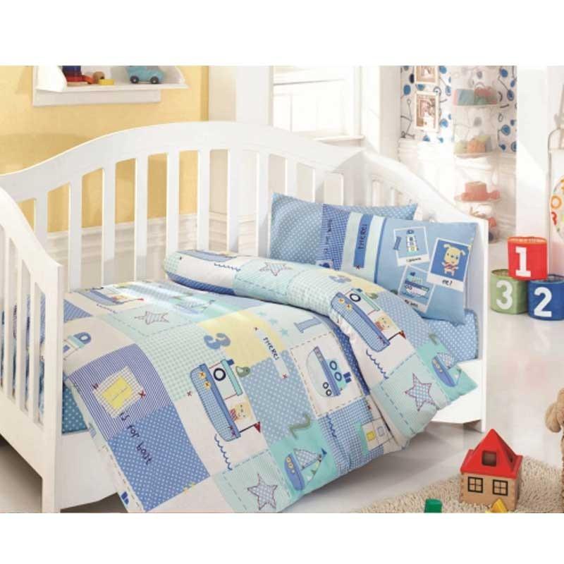 Σετ σεντόνια κούνιας βρεφικά Palamaiki Happy Baby Collection HB0517