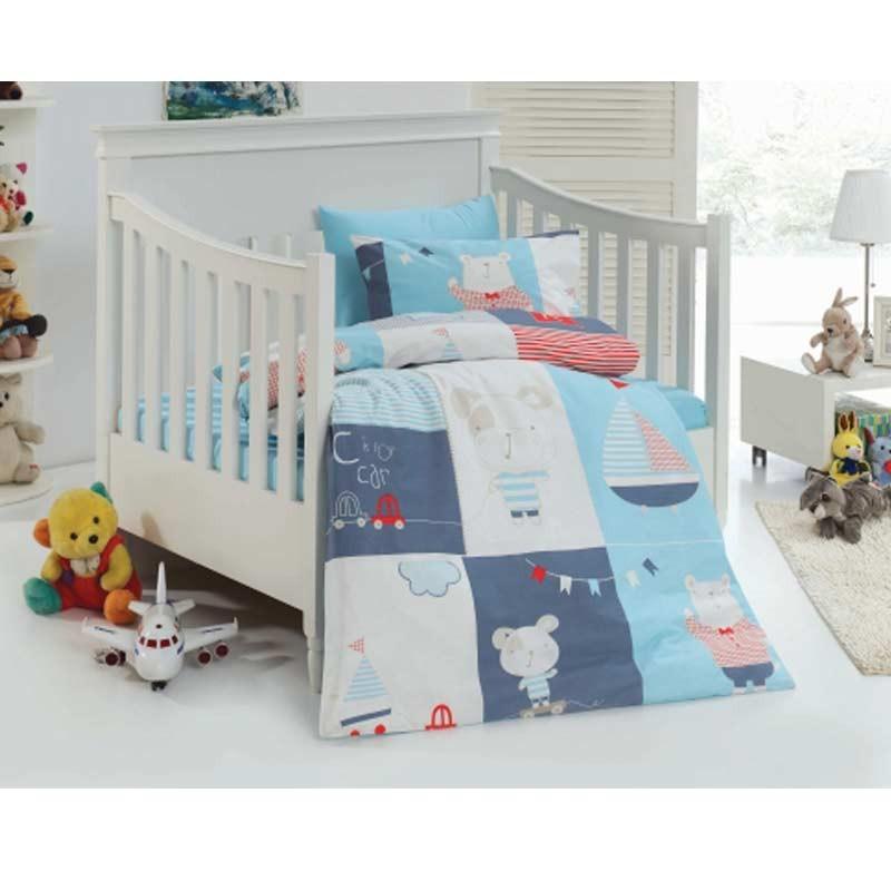 Σετ σεντόνια κούνιας βρεφικά Palamaiki Happy Baby Collection HB0518