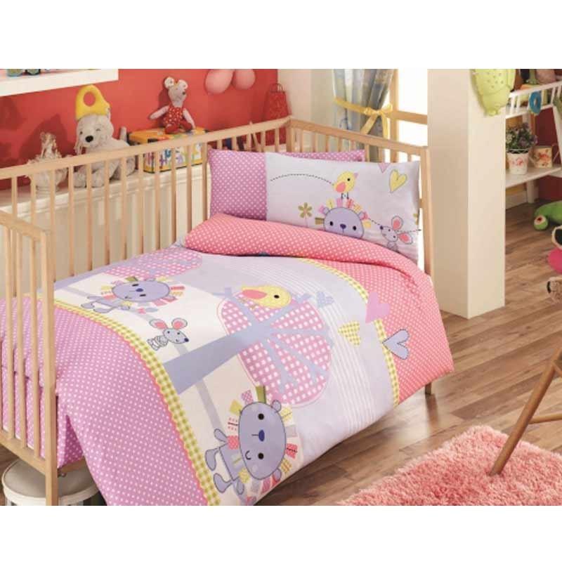 Σετ σεντόνια κούνιας βρεφικά Palamaiki Happy Baby Collection HB0523