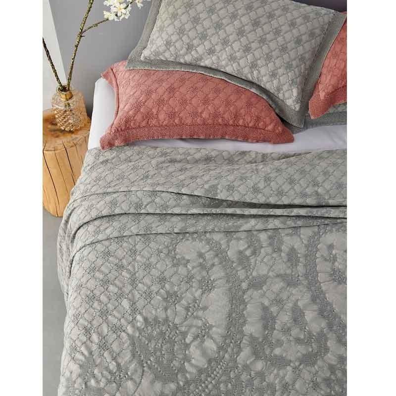Κουβέρτα Υπέρδιπλη Palamaiki HOME Abigail Grey 5205857192914