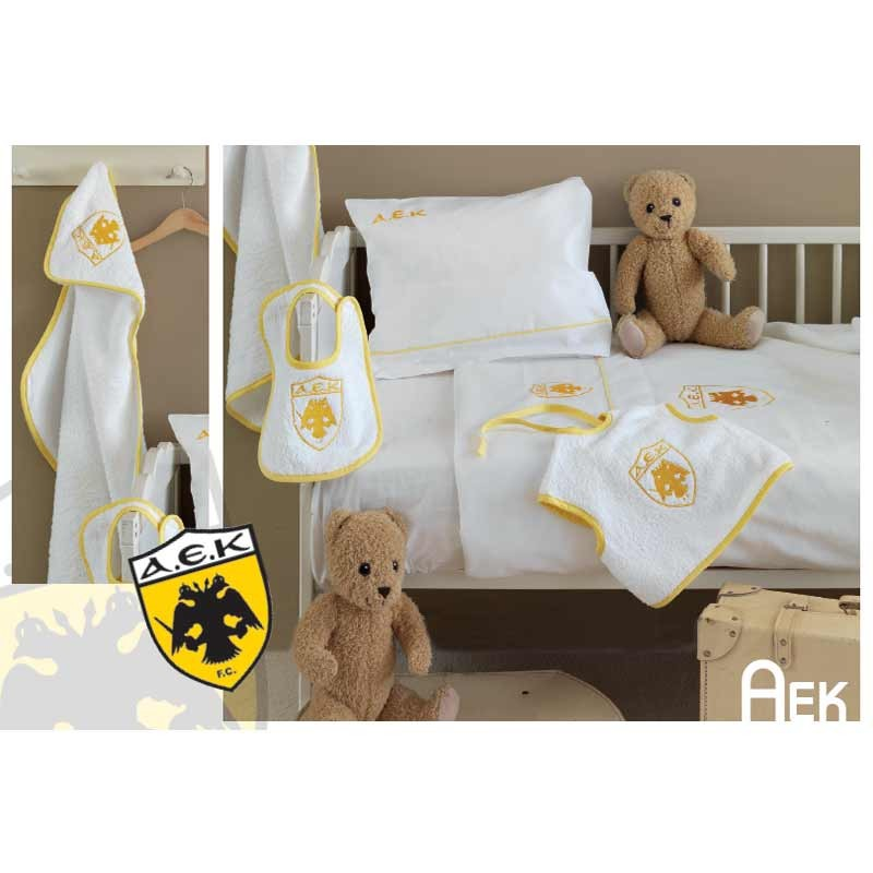 Σετ σεντόνια βρεφικά Palamaiki Baby Team AEK Official Licensed