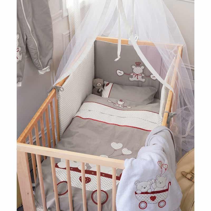 Σετ προίκας Μωρού 5 τμχ (πάντα,πάπλωμα,παπ/θήκη,μαξιλάρι,μαξ/θήκη) KENTIA Arturo