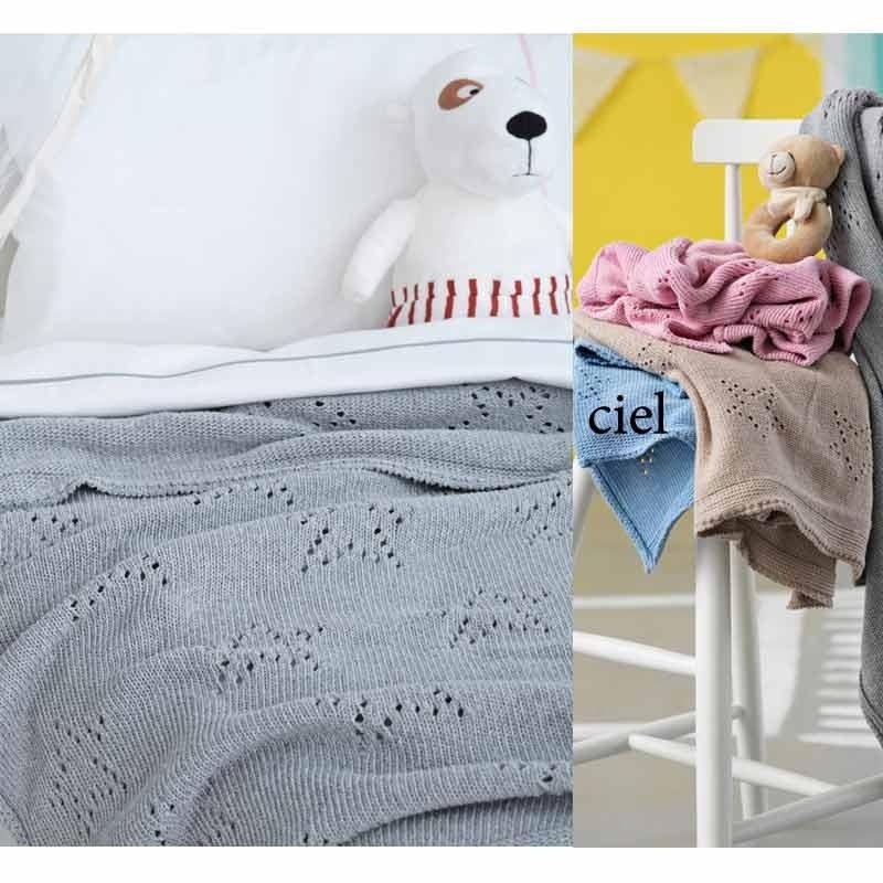 Κουβέρτα Αγκαλιάς Πλεκτή Palamaiki Knitted Collection Astro Ciel
