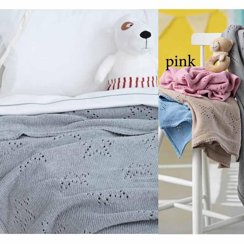 Κουβέρτα Κούνιας Πλεκτή Palamaiki Knitted Collection Astro Pink