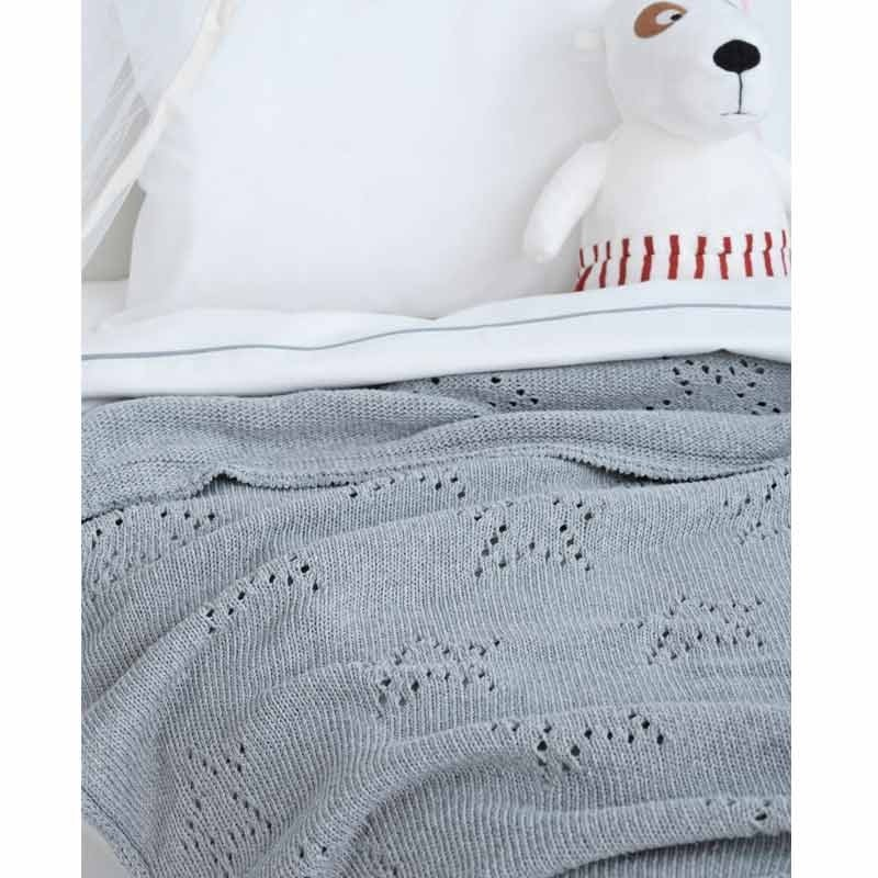 Κουβέρτα Αγκαλιάς Πλεκτή Palamaiki Knitted Collection Astro Grey