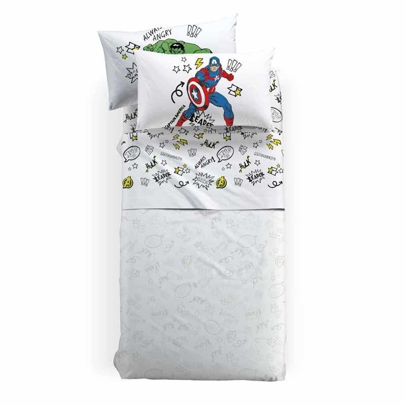 Σετ Σεντόνια Παιδικά Ημίδιπλα (με λάστιχο) Palamaiki HOME Disney Avengers Team 8000842778244