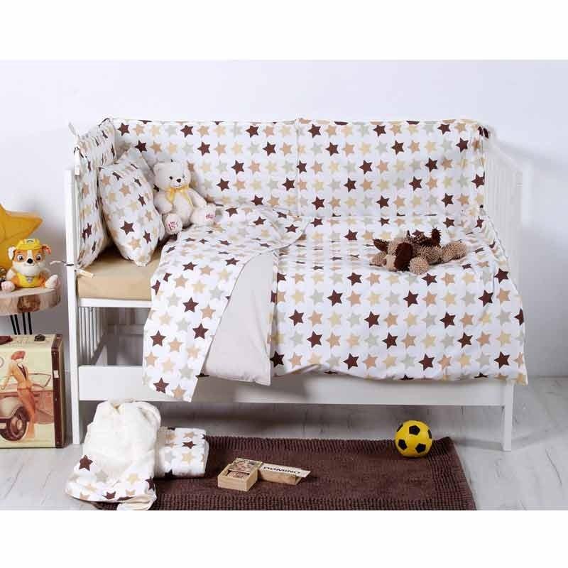 Σετ Παπλωματοθήκη Βρεφική Sb Home Baby Stars Beige 05.00126
