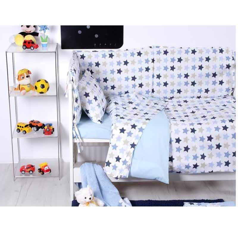 Σετ Παπλωματοθήκη Βρεφική Sb Home Baby Stars Blue 05.00120